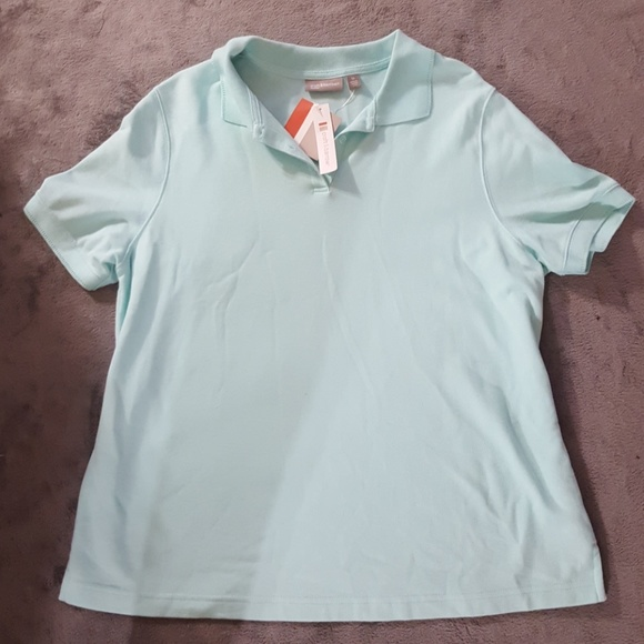 2c482d21 croft & barrow Tops | Croft Barrow Mint Green Polo Style Shirt New ...